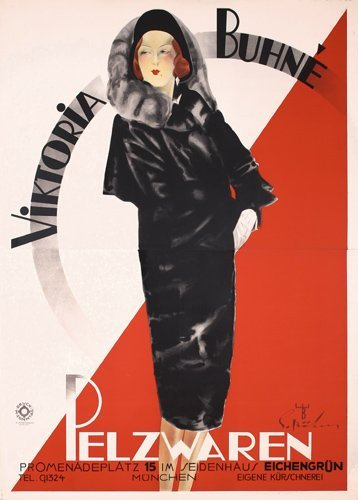 17: Large Original 1930s Victoria Buhne Clothing Poster