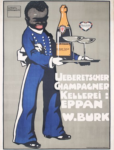 19: Original Ludwig Hohlwein Champagne Poster 1909