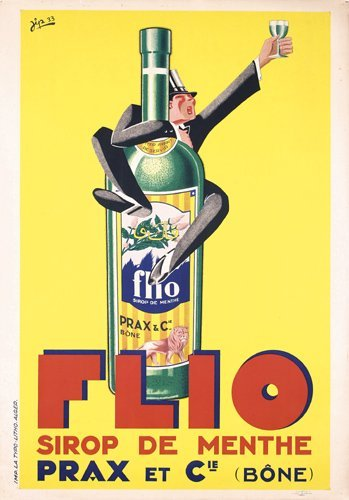 20: Old French Flio Advertising Poster 1930s