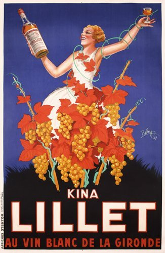 21: Original 1930s Kina Lillet Poster Robys