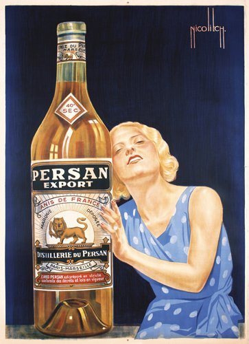 22: Old French Advertising Poster 1930s Anis de France
