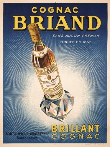 24: Original French 1920s Cognac Briand Poster