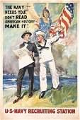 155: Original US Navy WW I Poster FLAGG 1917