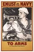 161: Original US WW I Navy Recruitment Poster