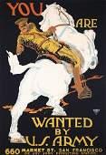 166: RARE Original Wanted by US Army WW I POSTER BARA