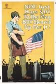 167: Original US WW I Poster Hats off to the Flag RARE