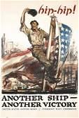 168: Original US WW I Navy Poster Another Ship