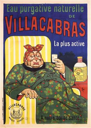 Rare Original 1900 EUGENE OGE French Advertising Poster