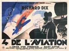 Rare Original 1930s Lost Squadron 4-Sheet Film Poster