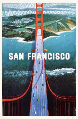 Original Vintage 1960s San Francisco Travel Poster