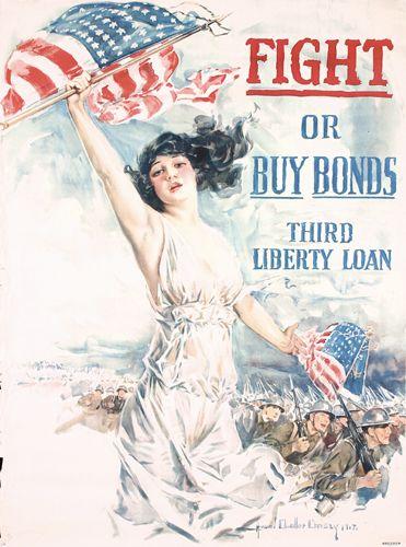 ORIGINAL US WW I Poster Christy Large Size 1917