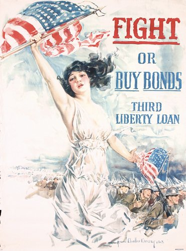 1: ORIGINAL US WW I Poster Christy Large Size 1917