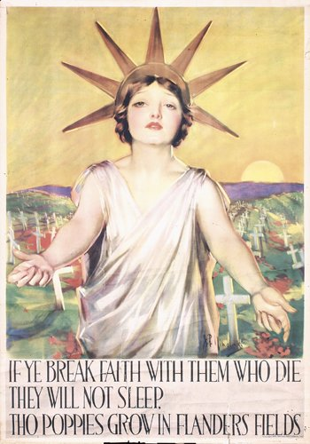 4: RARE US WW I Poster 1919 Lady Liberty