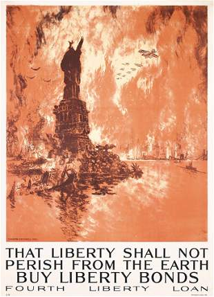 Original US WW I Poster Joseph Pennell Large Size