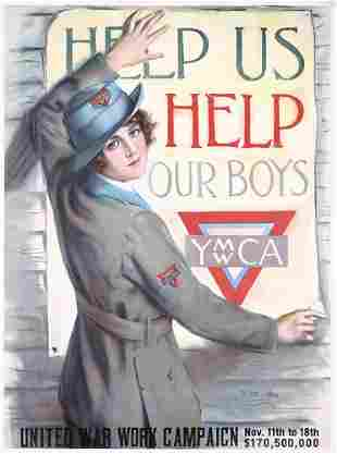 ORIG Haskell Coffin US WW I Poster Help our Boys