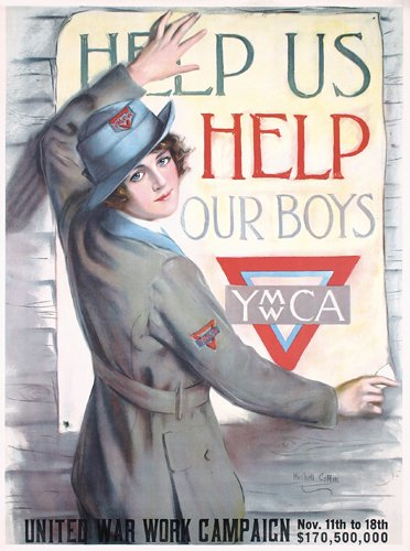 6: ORIG Haskell Coffin US WW I Poster Help our Boys
