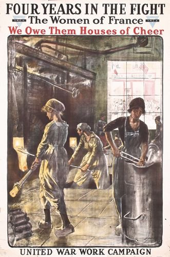 7: Group of 3 US World War I YWCA Posters
