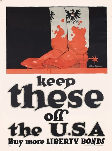 8: Group of 4 US World War I Posters
