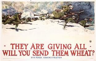 Large Original WW I Poster Harvey Dunn