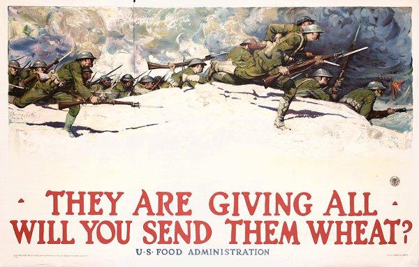 9: Large Original WW I Poster Harvey Dunn