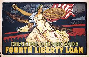 RARE US WW I Poster 1918 For Victory Williams