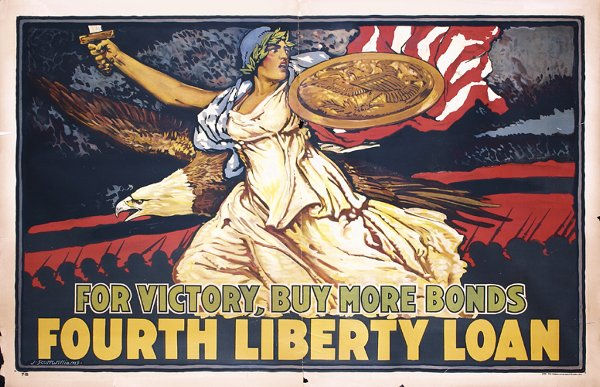 10: RARE US WW I Poster 1918 For Victory Williams