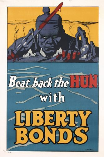 Group of 4 US World War I Posters