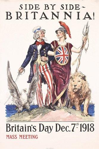 18: Original US WW I Poster Flagg Britannica 1918