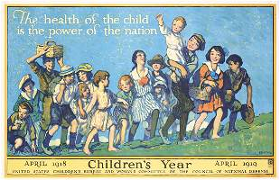 Old Original Poster Mora Children's Year 1918