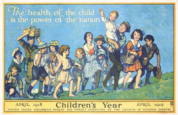 20: Old Original Poster Mora Children's Year 1918
