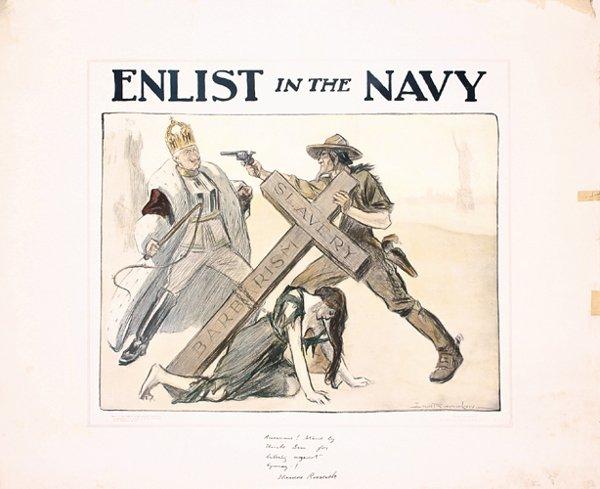 21: ORIGINAL US WW I Poster Enlist in the Navy 1917
