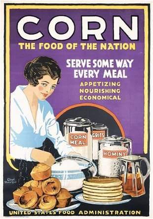 Group of 3 Original US WW I Food Posters