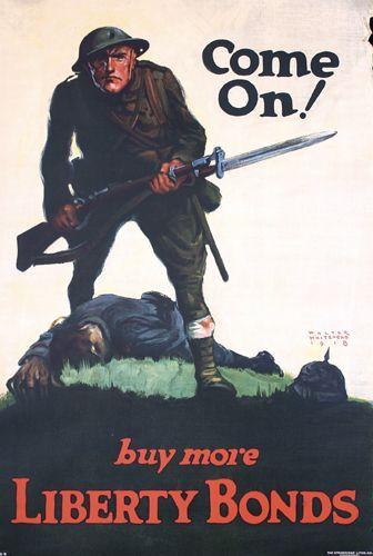 Group of 4 US WW I Posters ORIGINAL