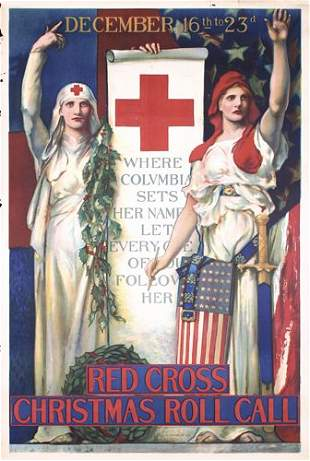 Group of 6 Original US WW I Red Cross Posters