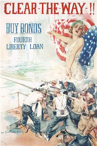 Original US WW I Poster Christy Clear the Way