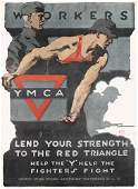 28: Group of 4 US WW I Posters ORIGINAL