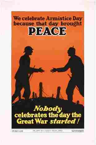 Original Hope of a Nation Poster 1930s 2x