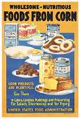 32: Group of 4 Original US WW I Food Posters