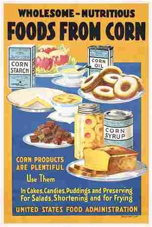 Group of 4 Original US WW I Food Posters