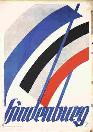 Original Ludwig Hohlwein Hindenburg Poster Plakat 1