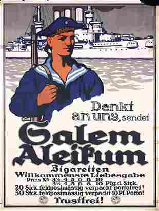 NICE Original WW I Poster Battleship Salem