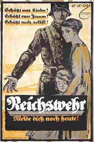 ORIGINAL German WW I Poster Plakat Cay 1919