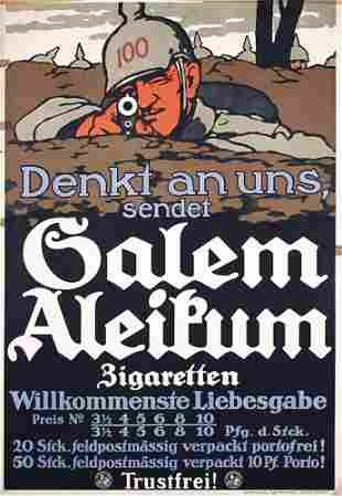 Original German WW I Poster Plakat Salem 1919