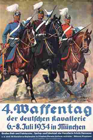 German Military Poster Plakat 1930s Waffentag