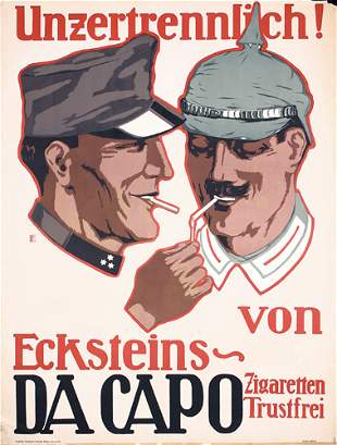 Original German WW I Poster Plakat Da Capo