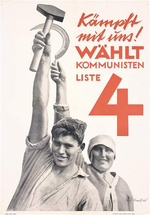 RARE John Heartfield Poster Plakat Montage 1932 !!!