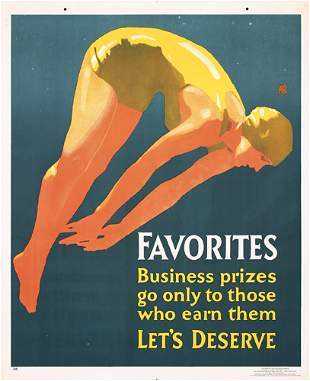 GREAT 1920s Mather Work Poster Swimmer Favorites