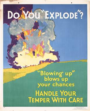 Mather Work Incentive Poster 1920s Explosion