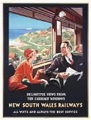 355: RARE South Wales Railways Poster Australia 1930s