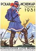 ORIGINAL Hohlwein German Lloyd Poster Plakat 1930s